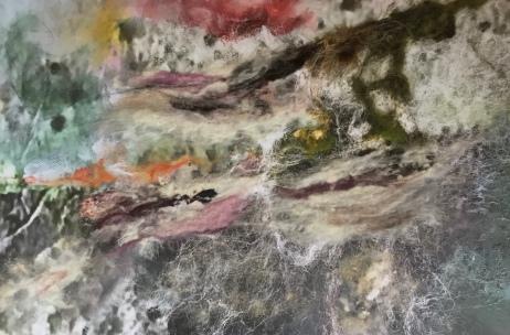 'Gletsjer', 2019, 120x80 cm, mixed media op canvas print
